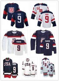 2018 can Team USA Jerseys  9 Zach Parise Jerseys  WOMEN YOUTH Men s  Baseball Jersey Majestic Stitched Professional sportswear 9582a0be0
