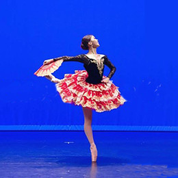 Wholesale professional classical ballet tutu for sale - Group buy Women Adult Black Red Professional Ballet Tutu Costume Don Quixote Ballet Tutus Skirt Classical Ballerina Stage Costume Custom