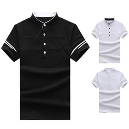 86b6ef1e69b Homme Shirt Luxury Design Stand Collar Male Summer Button Short Sleeves  Cotton Shirt Men Top S-2XL