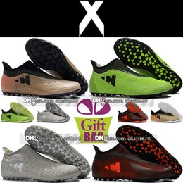 Cheap Shoes Boots NZ - 2018 Socks Football Boots X 17 Purespeed TF IN Indoor Soccer Boots Trainers X 17 Purechaos Turf Soccer Cleats For Mens Cheap Soccer Shoes