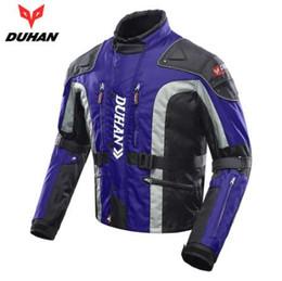 Motorcycle Clothing Jacket Motorbike NZ - DUHAN Windproof Motorcycle Jacket Cold-proof Moto Jacket Protective Gear Armor Men's Autumn Winter Motorbike Touring Clothing