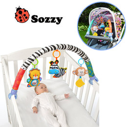 $enCountryForm.capitalKeyWord Canada - Sozzy Baby Stroller clamp bed clip Hanging Toys For Tots Cots seat cute cartoon plush Rattles 88CM