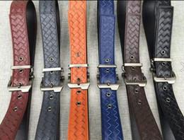 $enCountryForm.capitalKeyWord Australia - BELT IN PACIFIC VESUVIO TOURMALINE INTRECCIATO NAPPA Togo Epsom Quality Real Leather Belt Big Black With Box