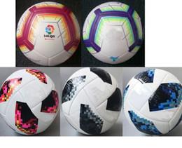cbfee85b8 Copa del mundo Tamaño 5 Bolas España Liga Inglaterra premer liga 2018 19  balón de fútbol de alto grado partido kits de pelota de fútbol (Barco sin  aire)