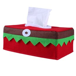 $enCountryForm.capitalKeyWord UK - 25*14*9cm Christmas Tissue Box Cover Bags Decoration Home Party Santa Claus Tissue Box Napkins Holder Home Organizer Decoration