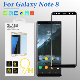 3d surface online shopping - For Samsung Galaxy Note9 S8 S9 Plus Full Cover Tempred Glass D Curved Screen Protector Full Surface Screen Cover Film With Package
