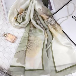 Discount sunflower rings Spring and summer new sunscreen scarf sady silk sunflower scarf large size new satin shawl women's wholesale