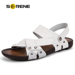 $enCountryForm.capitalKeyWord Canada - SERENE Summer Sandals Men Cow Leather Sandals Korean Version Slippers Casual Beach sandals Flip Flops Men Shoes Sandalias 2165