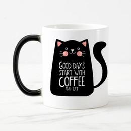 d526a357aaa coolest coffee mugs 2019 - Super Cool Cat Mugs Color Change Ceramic Coffee  Mug And Cup