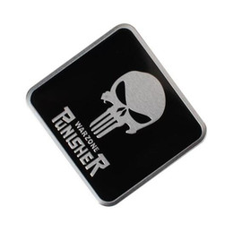 Door symbol online shopping - Cool Punisher symbol Skull Head Sticker Car Styling Metal Emblem D Decals Creative Mark Badge Auto Stickers More Skull logo option