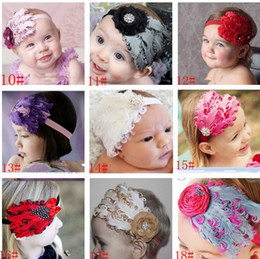 $enCountryForm.capitalKeyWord NZ - Children's Hair Accessories 2014 new Ostrich feathers exaggerated bow baby hair accessories hair bands ribbon Christmas,20pcs,