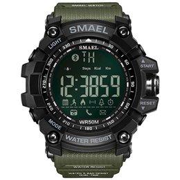 2018 мужские часы Smart Watch Мужские спортивные часы Army Green стиль Bluetooth Link Smart Watches Цифровые спортивные мужские часы 1617B
