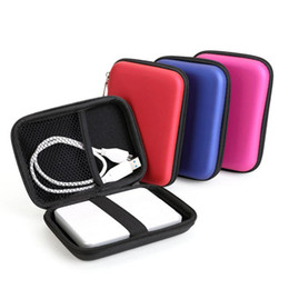 """hard disk drive bag 2019 - New Portable 2.5"""" External Storage USB Hard Drive Disk HDD Carry Case Cover Multifunction Cable Earphone Pouch Bag"""