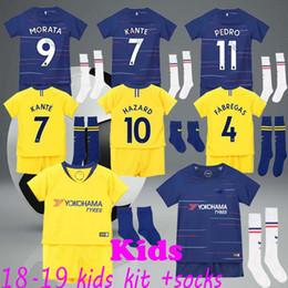 Kids Hazard Jerseys 2019 Children Kante Fabregas Moses Willian Giroud  Soccer kits 18 19 youth football jersey Set bc5ff511d
