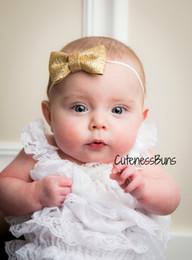 Glitter Bling Baby Australia - Lovely Baby Kids Girls Children Sequin Bowknot Hairband Headband Bling Glitter Bow Headdress Hair Band Accessories