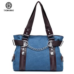 1fe04648b6a1 Taomaomao 2018 European style Women Canvas Bag Crossbody Bag Women Handbags  Casual Sling Shoulder Bags Chain Bolsa Feminina european style sling bags  on ...