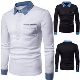 $enCountryForm.capitalKeyWord NZ - New Brands Polos Men Casual Slim Shirts Hot Shipping Polo Shirts Denim Collar Design Long Sleeves Men's Shirt Top Tees Shirts Free Shipping