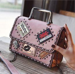 Cartoon Stamping Australia - Fahsion stamp appliques shoulder bag with rivets, leisure handbag, western style shoulder bag, characteristic lady bag for elegant life