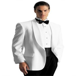 $enCountryForm.capitalKeyWord UK - Bespoke White Groom Tuxedos Wedding Suits For Men Groom Suit Groomsman Outfit Best Man Wear (Jacket + Pants + Belt + Bowtie)