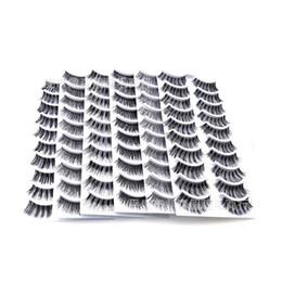 Handmade Hand bands online shopping - 10 Pairs Makeup Handmade Natural Black Crisscross Thick Curl Long Clear Band False Eyelashes Extension Full Strip Fake Eye Lashes