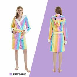 $enCountryForm.capitalKeyWord Canada - Winter Animals Robes 2018 New Retail adult Animal Bathrobe For Boys And Girls Unicorn Pattern Hooded Towel Beach Sleepwear
