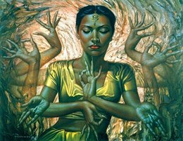 $enCountryForm.capitalKeyWord NZ - Multi Custom Sizes  Frame Available Vladimir Tretchikoff Handpainted   HD Print Hindu Dancer FINE Art Oil Painting On Canvas P150