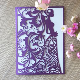 50pcs delicate laser cut wedding invitations bridal shower decorations greeting blessing card eventparty supplies