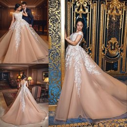 $enCountryForm.capitalKeyWord NZ - Glamorous Plus Size Prom Dresses White Lace Applique Off Shoulder Tulle Ball Gowns Evening Dresses Fashion Bodice Lace-Up 2018 Prom Dress