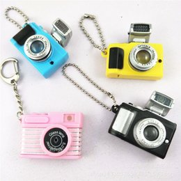 Chinese  Mini Camera Keychains With Sound & Flash lamp Creative Simulation Camera Key Chain Key Rings Amazing Souvenir Gift manufacturers