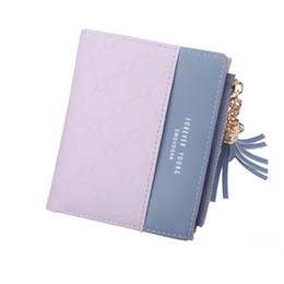 $enCountryForm.capitalKeyWord UK - 2018 New Tassel Zipper Purse Short PU Woman's Wallet Double Color Leather Wallets Card Holder Money Bag for Girls Women Wallet