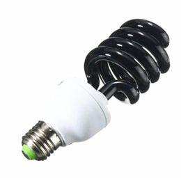 Battery fluorescent light online shopping - E27 W W UV Light Bulb Ultraviolet Black Light Bulb Spiral Fluorescent Energy Saving Light AC220V