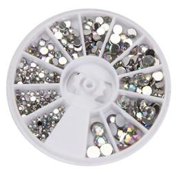 Beautiful nail acrylic online shopping - Super beautiful fashion trend Round D Acrylic Nail Art Gems Crystal Rhinestones DIY Decoration Wheel P