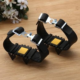 One Pair 4 Teeth Ice Snow Crampons Anti-skid Boot Shoes Cover Spikes Cleats for Outdoor Hiking Walking Climbing Accessories on Sale