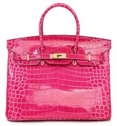 plum tote bag 2019 - crocodile tote shoulder bag emboss ostrich wholesale women handbag tote lady purse IT JP FranceTogo genuine leather bags