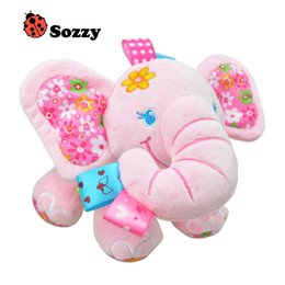 $enCountryForm.capitalKeyWord Canada - Sozzy Newborn Baby Hanging Toys Cute Animal Elephant Pull Bell Plush Toy Baby Rattle Pram Bed Hanging Kids Toys