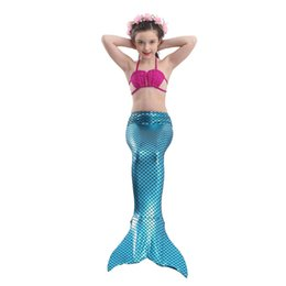 468b219ba7 tail 2018 Factory Unique Design Direct Sale 23 Colors Costume Cosplay  Bikini Gift Children Swimsuit Mermaid Tail Bathing Suit