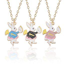 $enCountryForm.capitalKeyWord Australia - Cute Rabbit Necklace For Women Kawaii Bunny Pendant For Girls Trendy Alice in Wonderland Necklaces&Pendants Christmas Xmas Gifts