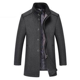 89804d190f7 2 In 1 Winter Wool Coat Men 2018 New Business Outerwear Warm Coat Men s  Casual Overcoat Pea Plus Size XXXL 4XL Jackets