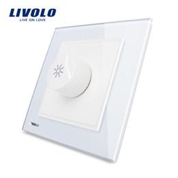 LivoLo switch dimmer online shopping - LIVOLO UK standard Knight Black Crystal Glass Panel AC V Dimmer Light Switch VL W291G
