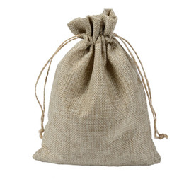 $enCountryForm.capitalKeyWord NZ - 10x15cm Vintage Rustic Wedding Natural Hessian Burlap Bags For Candy Cookies Jewelry Packaging Pouch Jute Gifts Bags Handmade Craft Bags