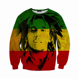 bb9237752afd4d Newest Fashion Reggae Star Bob Marley 3d Print Sweats Fashion Clothing  Women Men Sweatshirt Casual Pullovers K215