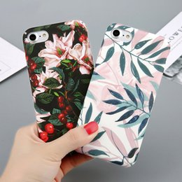 $enCountryForm.capitalKeyWord Australia - Cell Phone Cases For iPhone X Flower Phone Cases Cherry Tree PC Phone Cases Candy Colors Leaves Print Cover Coque For iPhone 6 6s 7 8 Plus