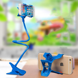 phone holder clip long arm Australia - Universal 2 Clips Long Arm Lazy Mobile Phone Stand Holder 6 Colors 360 Degree Flexible Bed Desk Table Clip Bracket For iphone samsung