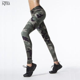 $enCountryForm.capitalKeyWord NZ - New Camouflage Print Women Sporting Leggings High Elastic Workout Fitness Leggings Women Patchwork Legging Skinny Pants S18101506