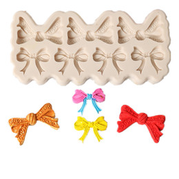 cakes products Canada - New Product Lace Exquisite Bow Sugar Cake Chocolates Model DIY Baking Decoration Tool Silicone Mold Dessert Decorators Fondant