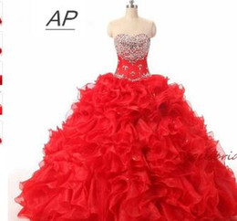 $enCountryForm.capitalKeyWord UK - Quinceanera Dresses For 15 Party Debutante Gowns Sparking Crystal Sweetheart High Quality Celebrity Gown