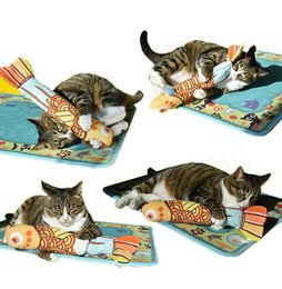 PaPer stuffing online shopping - Fish shape cat toys design cute simulation stuffed fish catnip toy with sound of paper pillow cat supplies interacting with pets