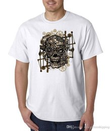 Neck Gear NZ - Sleeves Cotton Free Shipping Crew Neck Skull Gears Men Short Compression T Shirts