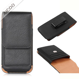 Leather beLt cLips online shopping - Universal Bussines Belt Clip Wallet Case Leather Phone Pouch Waist Bag For iPhone XS Max XR X Plus Samsung Note S9 Plus OPP