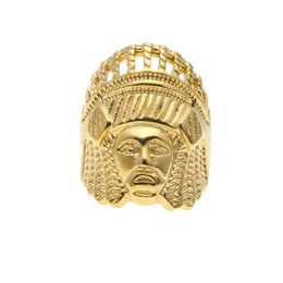 $enCountryForm.capitalKeyWord Canada - WEC Gold Color Retro Indian Chieftain Ring Hip-hop Style Index Ring of the Index Finger for Men and Women Jewelry
